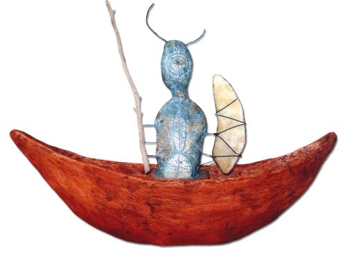 Boot | Kunstwerk von Brigitte Ashauer-Grof