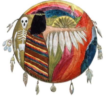 Grof transpersonal training, Mandala von Brigitte Ashauer-Grof. holotropes atmen