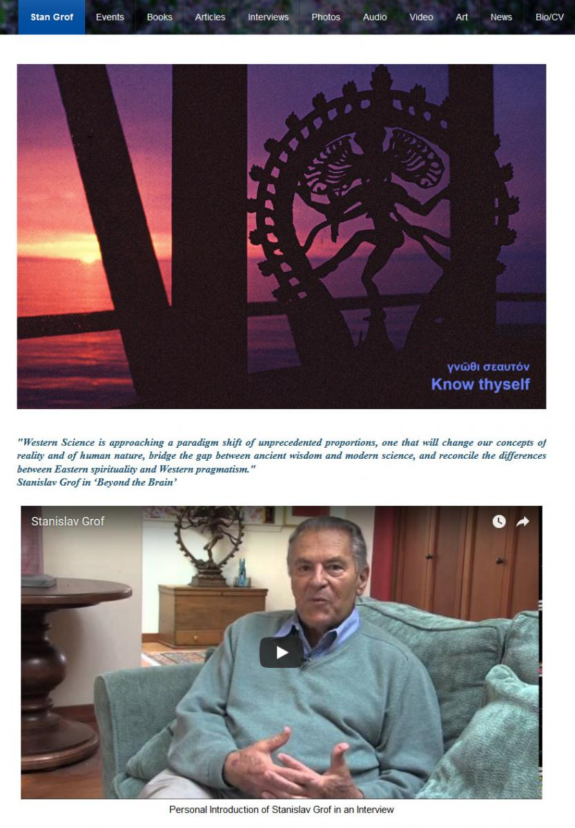 Dr. Stanislav Grof Webseite